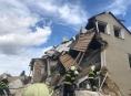 V Mostkovicích vybuchl rodinný dům