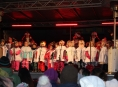 Vánoční zpívání dětské sboru u šumperské radnice