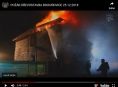 VIDEO. Oheň zachvátil líheň drůbeže v Olomouckém kraji