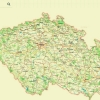 lesy ve správě podniku Lesy ČR jsou označeny zelenou barvou   zdroj: LČR