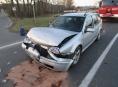 Řidič nestihl včas zareagovat a havaroval mezi Šumperkem a Bludovem