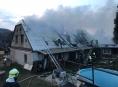 Požár střechy rodinného domu na Jesenicku