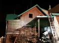 Na Jesenicku vyhořela střecha ubytovací chaty