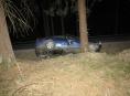 Řidič zanechal havarované vozidlo poblíž Skřítku v příkopu