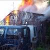 V Šumperku vyhořela budova autobazaru     zdroj foto: HZS OLK