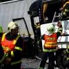zásah hasičů DN  na dálnici D35        zdroj foto: HZS OLK