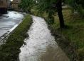 Silné bouřky s přívalovým deštěm přešly přes území Olomouckého kraje