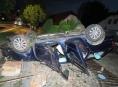 V Bludově v noci havaroval podnapilý řidič