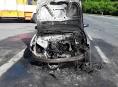 Hasiči na Jesenicku zasahovali u požáru automobilu