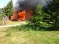 V Mohelnici hořel kovošrot