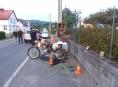 Motorkáři pod vlivem alkoholu havarovali na Jesenicku