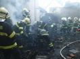V Hrabové hořel rodinný dům a přístavby