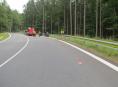 Na Červenohorském sedle bourali další motorkáři