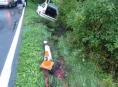Motorista na Jesenicku podcenil mokrou vozovku