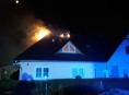 V Rapotíně hořela střecha rodinného domu