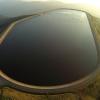 Horní nádrž elektrárny za úsvitu     zdroj foto: V. Sobol