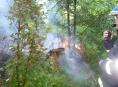 Požár půl hektaru lesa likvidovali hasiči na Šumpersku