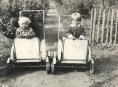 Historické kočárky ve vikýřovickém Muzeu silnic