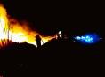 Rozsáhlý požár zaměstnává desítky hasičů v Olomouckém kraji