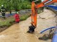 Následky přívalových dešťů v Olomouckém kraji