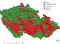 Aktualizovaná červená zóna lesů zasažených kůrovcem