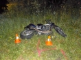 Motorkář na Červenohorském sedle podcenil rychlost