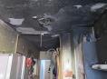 Výbuch a následný požár v mohelnickém bytovém domě