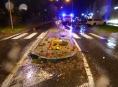 Opilý řidič v Jeseníku najel na středový ostrůvek