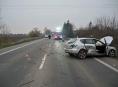 Dopravní nehoda čtyř vozidel na Šumpersku