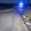 Opilý řidič otočil auto na střechu