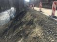 Sesunutá silnice u Hanušovic bude provizorně opravena