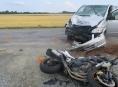 Motorista nedal přednost motorkáři