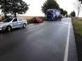 Zásah hasičů u dopravní nehody mezi Mohelnicí a Lošticemi