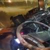 poškozená kabina                      zdroj foto: PČR