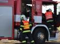 Požár ve výduti mostu likvidovali hasiči ze Zábřehu