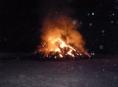 Požár stohu ve Slavoňově