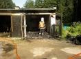 Dva lidé v Jindřichově se popálili při požáru motorek v garáži