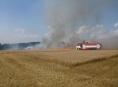 V Olomouckém kraji likvidovali hasiči dva požáry obilí