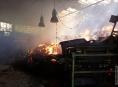 Hasiči Olomouckého a Pardubického kraje likvidují požár seníku v Podlesí na Šumpersku
