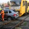 Řidič pod vlivem alkoholu vjel v Olomouci pod vlak  Foto:Drážní inspekce
