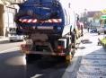 Zametací vůz srazil v Prostějově cyklistku