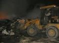 Hořelo na skládce komunálního odpadu v Zábřehu