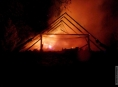 Hasiči likvidovali požár v Hanušovicích na Šumpersku