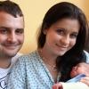 Spokojení rodiče malého Dominika Poula, který se stal prvním dítětem narozeným v Šumperské nemocnici v r2013  zdroj foto:AGEL