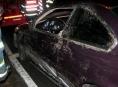 V Jeseníku u nehody BMW zasahovali hasiči. Z vozidla vytékalo palivo
