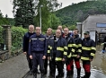 Hasiči z Olomouckého kraje stále pomáhají v Praze, Jaromeři a Náchodě