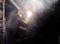Noční požár v Hynčicích nad Moravou