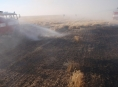 Během deseti dnů již potřetí hořelo pole u Nové Hradečné