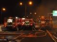 Požár nákladního vozidla na dálnici