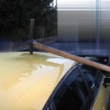 Krumpáč zaseklý ve střeše auta našel řidič v Olomouci    zdroj foto:PČR